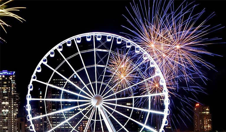 Wheel of Brisbane - Happy New Year 2017!